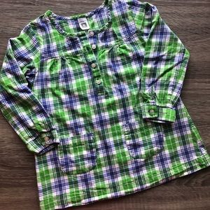 Carters size 4T long sleeve plaid top